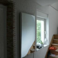 Infrarot-Spiegelheizung 210W Alurahmen standard A