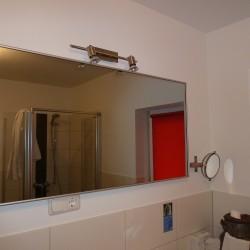 Infrarot-Spiegelheizung 400W Alurahmen standard